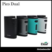 Authentique Eleaf Pico Double TC Box Mod 200W Compact double 18650 Mod avec 50A 200W Max Sortie 510 connexion Pico Dual Mod