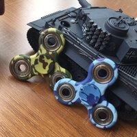 Fouget spinner Color Camouflage Hand Spinner Plastic EDC pour Autisme Et ADHD Jouets Enfants Tri-Spinner Fidget Toy HandSpinner