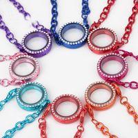 Смешанные 8 цветов плавающей ожерелье браслет сплава стекла жизни Memory Locket Charms браслеты для женщин ювелирные изделия подарки
