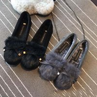 Fall and winter leather thick velvet peas flat with women &#...
