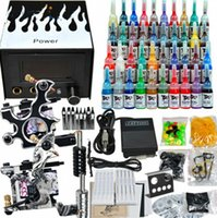2017 Complete Tattoo Kit 2 Machines Gun 40 Color Inks Power ...