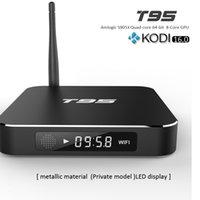 T95 tv box android Amlogic S905X hd set top boxes Quad Core ...