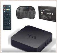 MXQ TV Box Amlogic S805 Quad Core с XBMC KODI 16,0 Loaded С РИИ I8 мини беспроводная клавиатура Air Fly Mouse Белый Черный CCA5427 100set