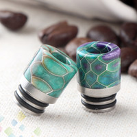 510 Drip Tips Stainless Steel + Epoxy Resin Drip Tip Grid Wa...