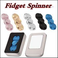 Fidget Spinner Spinner de mano Tri Fidget Zn Aleación Metal Metal Juguete Reductor de estrés Focus Toy para el tiempo de matar para los adultos de los niños a través de DHL