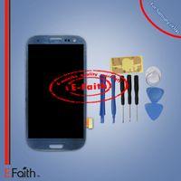 LCD bleu pour Samsung Galaxy S3 i9300 avec écran tactile Touch Digitizer Assembly Pièces de rechange Outils