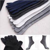 Горячие продажи 1lot = (20 шт / 10 пар) Раздельные пальца ноги носки удобный хлопок Мода Женщины Мужчины Unisex Пять 5 Пальцы Теплые пальцы ног Спорт Носок