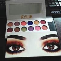 2PCS Kylie ombre à paupières maquillage maquillage édition des fêtes cosmétiques la pêche royale kyshadow palette précommande 12 couleurs maquillage des yeux composent