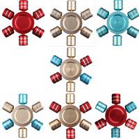 Hexagon Hand Spinner 7 Colores Dedos De Aluminio En Espiral De Los Dedos Gyro Torqbar Fidget Spinner Con Retail Box OOA1519
