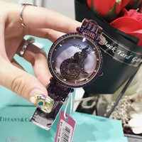 Pink Purple White Shining Rotation Wristwatches Fashion Wome...