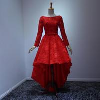 Платье 2016 шнурка Длинные платья выпускного вечера Vintage High Low платье партии Sheer шеи Узелок женщин вечерние платья
