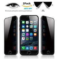 Protection anti-effraction pour Iphone 7 Plus Iphone 6S Plus 5 Samsung Galaxy S7 / S6 / S5 Note 7 Note 5 Protecteur d'écran Anti-Spy