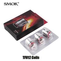 100% Original Smok TFV12 Bobines de réservoir Tête V12-T12 Duodénaire 0.12ohm V12-T6 V12-T8 0.16ohm V12-Q4 V12-X4 0.15ohm Cœurs
