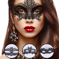 Women Lace Mask Halloween Masquerade Venetian Party Hollow H...