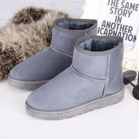 8-clors Chirstmas inverno neve botas mulheres 2016 crosta grossa Martin botas de renda clássico rua quente de algodão mulheres botas sapatos baixos S02