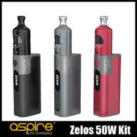 100% Original Aspire Zelos 50W Kit 2ml Remplissage supérieur Nautilus 2 Tank VW TC Module de batterie Li-Po 2500mAh intégré