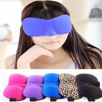Atacado-Novo 3D Eye Masks Shade Capa Resto Sleep Eyepatch Viagem Sleeping Aid acolhedor olho máscaras de sono A0426