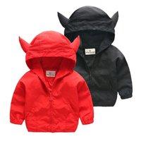 90- 120cm Cute Devil Ear Kids Boys Jacket Windbreaker Spring ...