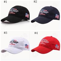 Hacer América Grande otra vez Gorro de Donald Trump Casquillos ajustables republicanos del bordado Casquillos del voto de América 4 diseños OOA1020