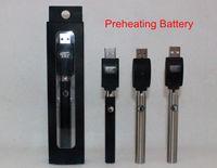 Préchauffage Bouton de la batterie Tension variable réglable O-pen Batterie BUD 350mAh Stylo à vapeur 510 e Cigarettes pour cire CBD Cartouche d'huile CO2