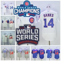 2016 World Series Champions Patch 14 Ernie Banks Jersey Flex...