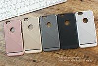 Pour iphone7 boîtier de téléphone cellulaire ultra-mince, housse de protection respirante, matelassé rayé coque pour téléphone portable pour iphone 6s gratuit