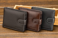 Mens Vintage Look Buckles PU Bifold Wallet Travel Cash Hasp ...