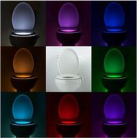 Красочные движение туалет ночник включен, Ванная Human Body Auto Motion Activated Датчик сиденья свет лампы ночь 8-Цвет изменения