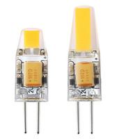 Dimmable G4 LED 12V AC / DC COB Lumière 2W 4W Ampoule LED Lustre Lampes Remplacer les lumières halogènes LLFA