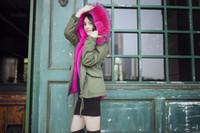 2016 Outono e inverno quente pele Fur Hat Parka Fur Black / Army Green casaco de pele com capuz Outwear forro removível