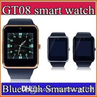 20X Bluetooth Smart Watch GT08 A1 avec carte SIM Slot Health Watchs pour iPhone 6S Samsung S7 Android IOS Smartphone Bracelet Smartwatch C-BS