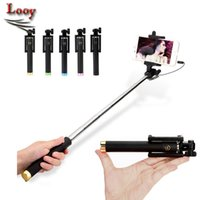 Mini Pocket Poche auto-pliable Stick Wired Portable Selfie Stick Selfie Monopod Stick pour IOS Smartphones Android Gopro Hero caméra
