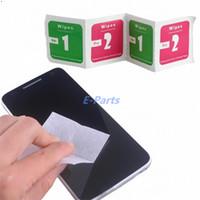 1000pcs (1000pcs lingettes humides + 1000pcs lingettes sèches) pour téléphone mobile écran LCD Clear verre de verre trempé film d'alcool chiffons de nettoyage
