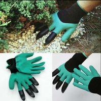 Gants de génie de jardin avec doigts Griffes Green Dig et Plant Safe Gants d'élagage Garden Waterproof Digging Gloves 120 paires OOA1379