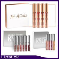 Le plus nouveau kit de l'édition de vacances de Kylie 4pcs / set 6pcs / set kolio matte kylie jenner lipgloss liquide pour le cadeau de Noël 660060-1