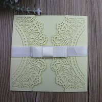 Butterfly Invitations with Ribbon Romantic Delicate Wedding ...