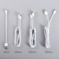 Type C Câble USB Micro Blanc 1M 2M 3M 10ft 6ft Meter Data Sync Charge Type de charge-C Pour Samsung Huawei IP5 IP7