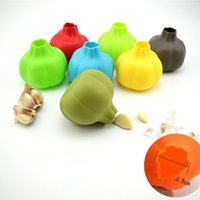 Kitchen Accessories Silicone Garlic Shaped Garlic Peeler Who...