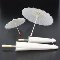 Children DIY Hand Painted Blank Oilpaper Umbrella White Craf...