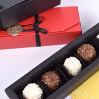 Black Red Paper Boxes Chocolate Paper Gift Box Valentine...