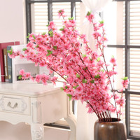 123cm Artificial Cherry Spring Plum Peach Blossom Branch Sil...