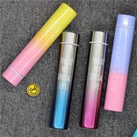 300ML Gradient Color Water Bottle Long Slim 304 Stainless St...