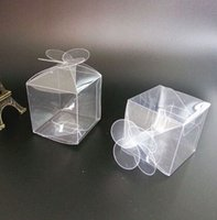 Clear Plastic PVC Boxes Candy Macaron Holder Gift Packaging ...
