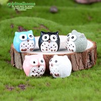 5 Colors Micro Mini Fairy Garden Miniatures Figurines Owl Bi...