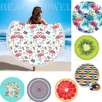 32 Style Round Beach Towel with Tassel Microfiber Shower Tow...