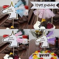 Happy Birthday Tassel Flag Unicorn Cupcake Toppers Baby Show...