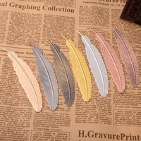 7 Colors Metal Feather Bookmark Document Book Mark Label Gol...