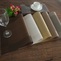 Table Mats Placemat 8 Colors Decoration PVC Kitchen Table Ma...