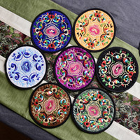 Chinese Style Embroidered Dining Table Mat Placemat Beverage...