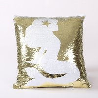 DIY Mermaid Sequin Cushion Cover Throw Pillowcase 40cmX40cm ...